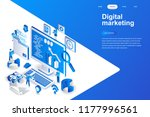 digital marketing modern flat... | Shutterstock .eps vector #1177996561