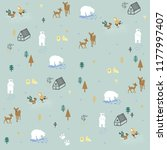 cute winter pattern design.... | Shutterstock .eps vector #1177997407