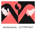 couple in love. two lovers  man ... | Shutterstock .eps vector #1177997467