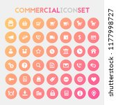 big commercial icon set | Shutterstock .eps vector #1177998727