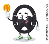 cartoon car steering wheel... | Shutterstock .eps vector #1178000731