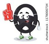 cartoon car steering wheel... | Shutterstock .eps vector #1178000734