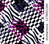 seamless pattern wild design....   Shutterstock . vector #1178001184