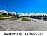 promenade along river in nizhny ... | Shutterstock . vector #1178007034