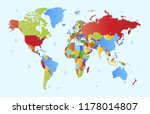 world map vector | Shutterstock .eps vector #1178014807