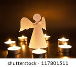 Christmas Angel With Candles...