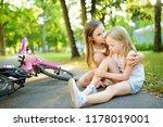 adorable girl comforting her... | Shutterstock . vector #1178019001