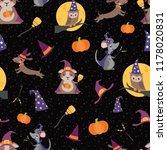 vector wizard witch friends... | Shutterstock .eps vector #1178020831
