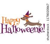 vector happy halloweenie... | Shutterstock .eps vector #1178020867