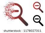 zoom out icon in sparkle ...   Shutterstock .eps vector #1178027311