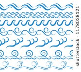 blue sea water waves vector... | Shutterstock .eps vector #1178028121