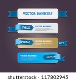 a set of vector promo banners... | Shutterstock .eps vector #117802945