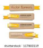 a set of vector promo cardboard ... | Shutterstock .eps vector #117803119