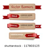 a set of vector promo cardboard ... | Shutterstock .eps vector #117803125