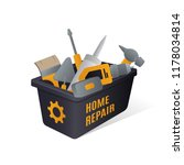 box with tools logo concept.... | Shutterstock .eps vector #1178034814