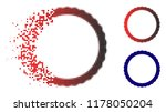certificate rosette circular... | Shutterstock .eps vector #1178050204