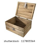 A Rough Wooden Planked Box Wit...