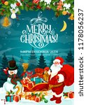 merry christmas greeting card... | Shutterstock .eps vector #1178056237