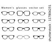 women s glasses vector set. | Shutterstock .eps vector #117806251