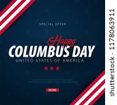 columbus day sale promotion ... | Shutterstock .eps vector #1178063911