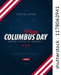 columbus day sale promotion ... | Shutterstock .eps vector #1178063941