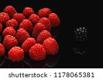 blackberry and raspberry on a... | Shutterstock . vector #1178065381