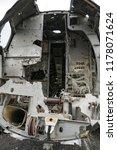 plane wreck on a public beach... | Shutterstock . vector #1178071624