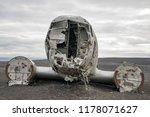 plane wreck on a public beach... | Shutterstock . vector #1178071627