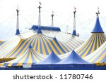 a yellow and blue circus tent... | Shutterstock . vector #11780746
