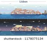 vector illustration of lisbon... | Shutterstock .eps vector #1178075134