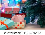 under a christmas tree in a... | Shutterstock . vector #1178076487