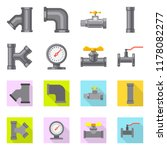 vector illustration of pipe and ... | Shutterstock .eps vector #1178082277
