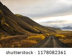 road in iceland. | Shutterstock . vector #1178082361