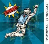 pop art astronaut soaring or...   Shutterstock .eps vector #1178086651