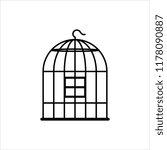 bird cage icon  bird cage... | Shutterstock .eps vector #1178090887