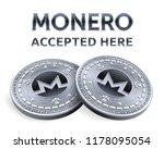 monero. accepted sign emblem.... | Shutterstock .eps vector #1178095054