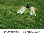 sunbathers on the grass | Shutterstock . vector #1178096614