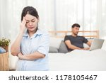 pregnant woman worried about...   Shutterstock . vector #1178105467