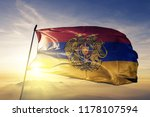 Armenia with coat of arms flag...