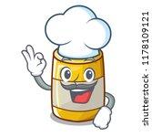 chef character bottle style... | Shutterstock .eps vector #1178109121