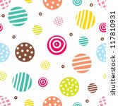 Cute Seamless Pattern  Polka...
