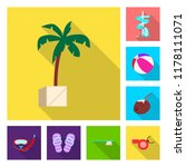 vector illustration of pool and ... | Shutterstock .eps vector #1178111071