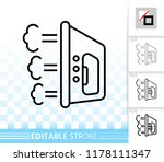 iron thin line icon. outline... | Shutterstock .eps vector #1178111347