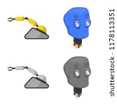 isolated object of robot and... | Shutterstock .eps vector #1178113351