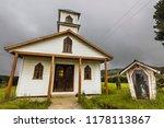 Chepu Church At Chiloe Island...