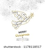 merry christmas happy new year... | Shutterstock .eps vector #1178118517