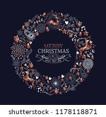 merry christmas happy new year... | Shutterstock .eps vector #1178118871