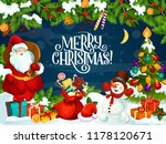 christmas holiday greeting card ... | Shutterstock .eps vector #1178120671
