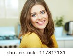 portrait of young smiling woman ... | Shutterstock . vector #117812131