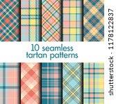 set of seamless tartan pattern | Shutterstock .eps vector #1178122837